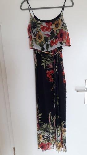 Rinascimento Vestido largo multicolor tejido mezclado