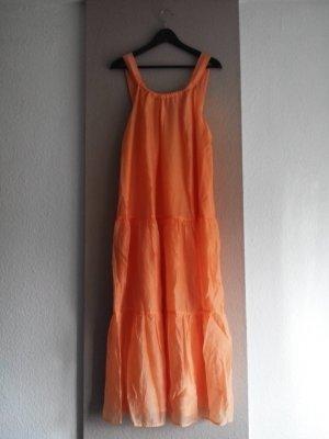 wunderschönes Midi-Trägerkleid in hellorange, Grösse M, neu
