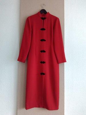 wunderschönes Midikleid in rot mit Knebelknöpfen, Grösse S, neu