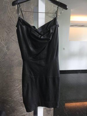 All Saints Leren jurk zwart Leer