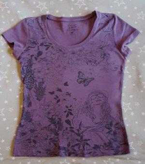Zero Shirt met print zwart-lila