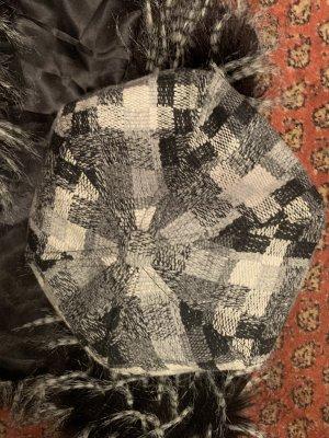 H&M Berretto basco bianco-nero