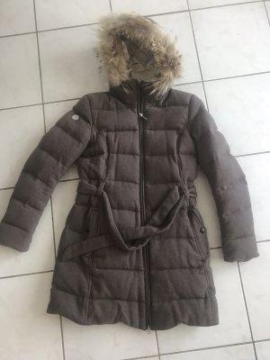 MUSEUM Manteau en duvet gris brun
