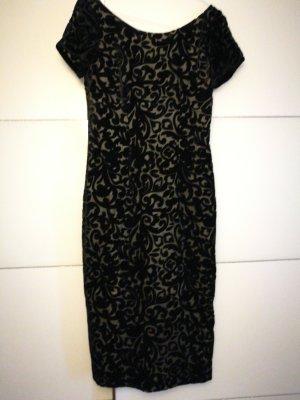 Guido Maria Kretschmer Sheath Dress black-oatmeal silk
