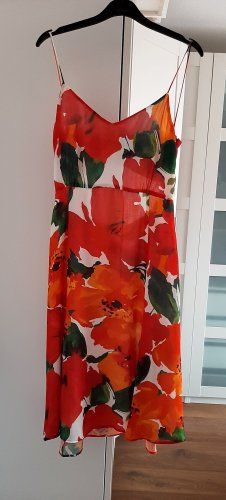 Wunderschönes neuwertiges Sommerkleid mit cut-out am Rücken von ZARA, in rot/grün/weiss, Gr. M