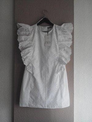 wunderschönes Overall-Kleid mit Lochstickerei aus 100% Baumwolle, Grösse M, neu
