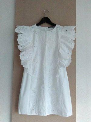 wunderschönes Overall-Kleid mit Lochstickerei aus 100% Baumwolle, Grösse S, neu