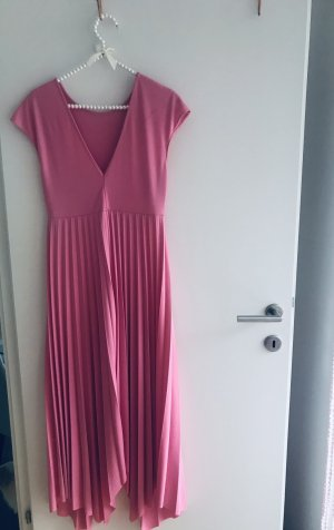 0039 Italy Robe longue rose-rose fluo
