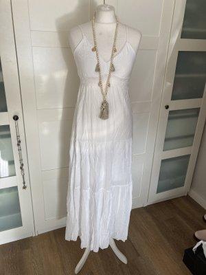 Boutique Robe d'été blanc coton