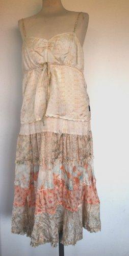 Wunderschönes Seiden Kleid von Calvin Klein in Pastellfarben Gr. L - neu