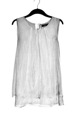 Hallhuber Shirt Tunic silver-colored-light grey silk