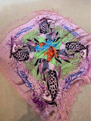 Ed Hardy Pañuelo de seda multicolor