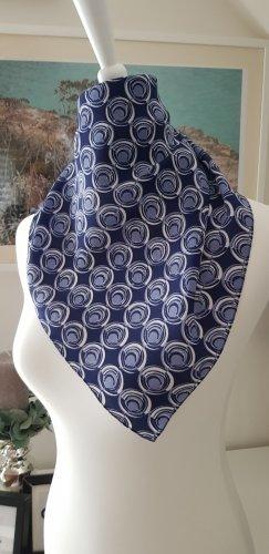 Zijden doek donkerblauw-zilver Zijde