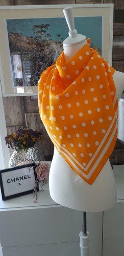 ldadpr Jedwabna chusta jasnobeżowy-jasny pomarańczowy Jedwab