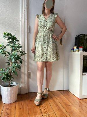 Wunderschönes Sommer Blümchen Kleid V-Ausschnitt von Monteau Gr.M mit Knöpfen