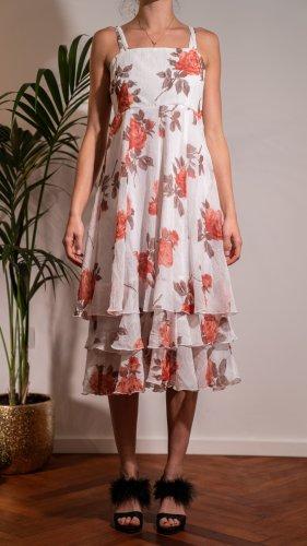 Chou Chou Sukienka midi czerwony-biały
