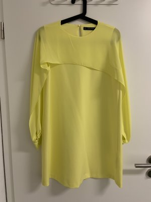 Zara Basic Chiffon jurk sleutelbloem