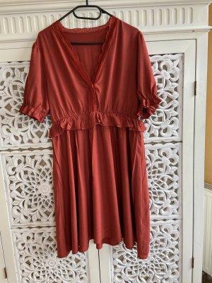 Sheinside Peplum Dress russet