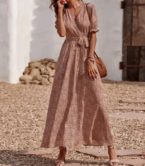 Wunderschönes Sommerkleid Kleid bunt lang Gr 38 S