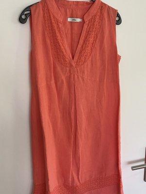 0039 Italy Vestido de Verano rojo claro-salmón