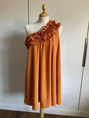 H&M Vestido de un hombro naranja