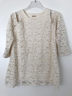 Hollister Lace Top natural white
