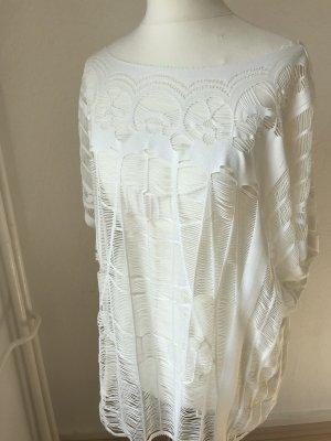 Pieces Crochet Shirt white