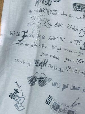 Wunderschönes T Shirt mit Strasssteinchen und Pailletten