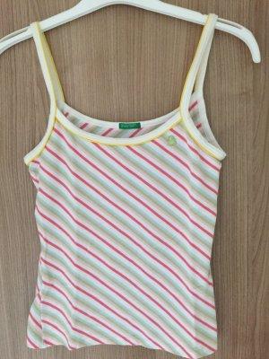 Wunderschönes Top der Marke Benetten, Farbe: rosa, pink, weiß, grün, hellblau,