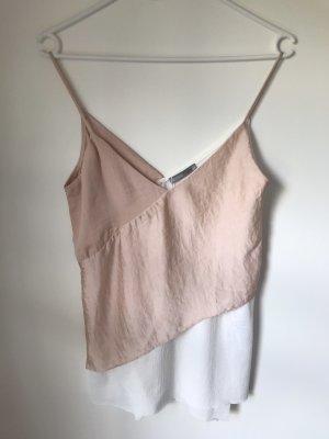 Wunderschönes Top rosa weiß, Zara S NEU