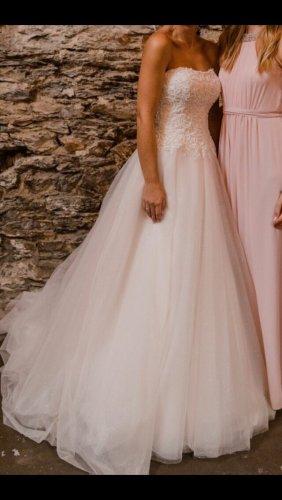 Agnes Bridal Dreams by MODE DE POL Robe de mariée blanc-rose clair