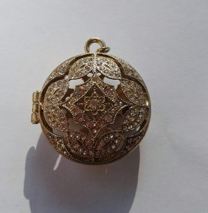 Avon Pendant gold orange