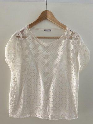 Wunderschönes Tshirt o Bluse von Zara in Gr S NEU in beige