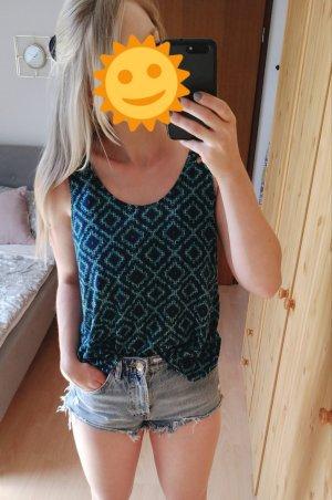 wunderschönes türkis blaues Top Shirt Bluse mit Rückenausschnitt