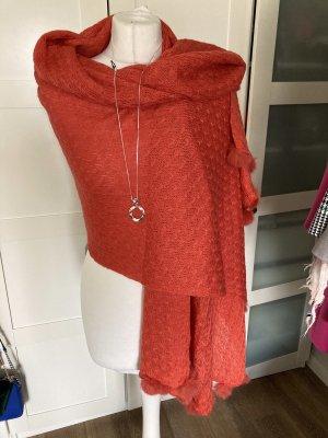 Wunderschönes und außergewöhnliches xxl Tuch fellbommel orange