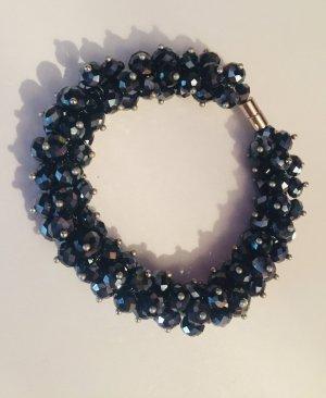 Wunderschönes Vintage Luxus Statement Armband Blaugrau Funkelt Extrem Elegant Festival Eyecatcher!! Neu