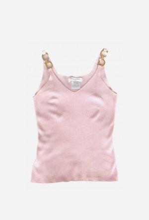 Dior Top tipo bustier rosa claro-color oro