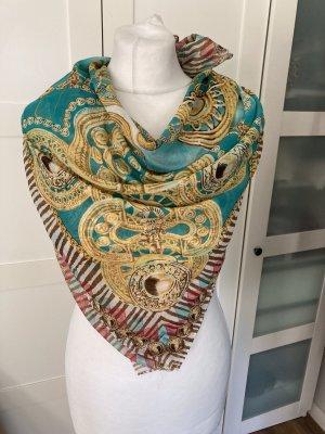 One vintage Châle au tricot multicolore