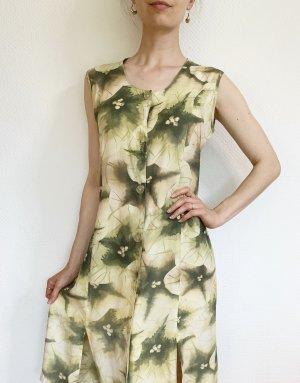 Wunderschönes Vintagekleid mit Retromuter/Blumenprint aus Viskose - hinten zum binden