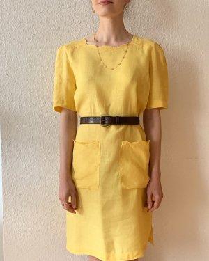 Wunderschönes Vintagekleid Retrokleid mit Taschen in gelb