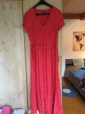 Wunderschönes Zara Maxikleid rot gepunktet