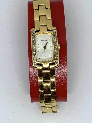 Seiko Zegarek z metalowym paskiem złoto