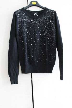 Athmosphere Crewneck Sweater black-silver-colored