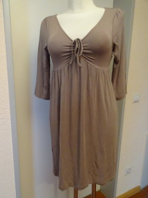 Allude Jersey Dress grey brown-beige modal fibre