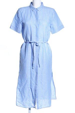 Wunderwerk Hemdblusenkleid blau-weiß Streifenmuster Business-Look