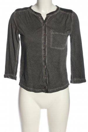 Wunderwerk Long Sleeve Blouse light grey flecked casual look