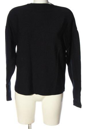 Wunderwerk Crewneck Sweater black cable stitch casual look