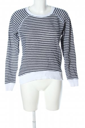 Wunderwerk Crewneck Sweater white-black striped pattern business style