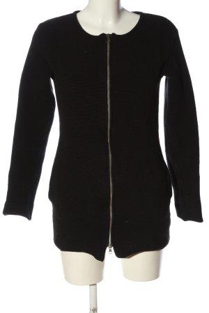Wunderwerk Cappotto a maglia nero stile casual