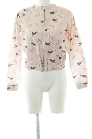 Wunderwerk Between-Seasons Jacket pink allover print casual look